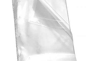 Saco plastico incolor